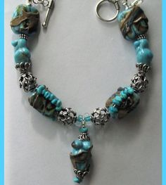 FREE GIFT   Fine Jewelry  Lampwork Natural by therodeorose on Etsy, $90.00