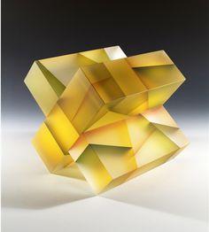Artist Jiyong Lee's translucent #glass sculptures beautifully fragment color and light. #art #sculpture