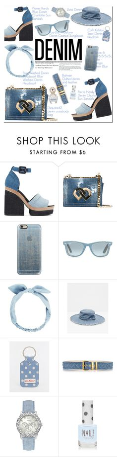 """""""Jean-ious Accessories"""" by oshint ❤ liked on Polyvore featuring Pierre Hardy, Dsquared2, Casetify, Ray-Ban, Zara, Cath Kidston, Balmain, GUESS, Topshop and Marc Jacobs"""