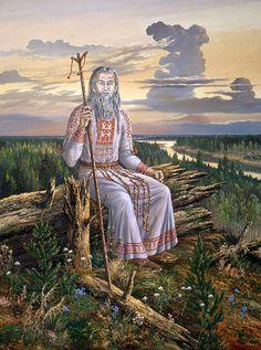 "Paintings of Vsevolod Ivanov Hyperborea. painting ""Supreme Magus"""