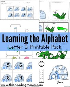Learning the Alphabet: FREE Letter I Printable Pack for Kids Learning the ABC's + Letter I Book List! | This Reading Mama