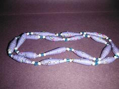 28 one of a kind paper and glass bead necklace by DandDsJewels, $10.00