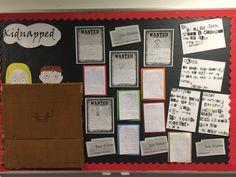 Pie Corbett's Kidnapped Writing display