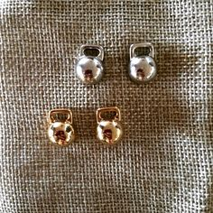 Kettlebell stud earrings ... Wear your passion  www.enjoyjewellery.com.au