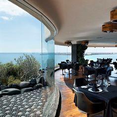 Romantic things to do in Lanzarote : Restaurant of the Modern Art Museum Castillo de San Jose