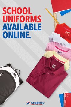 We're making it easy to stock up on uniforms. Get polos, pants, shorts, jumpers, and every piece you could possibly need. Order online and start this school year off right.