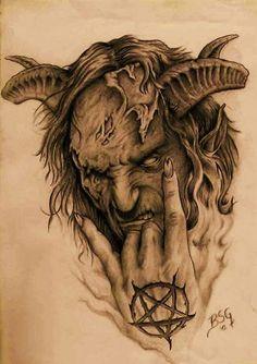 Satanic Tattoos, Evil Tattoos, Skull Tattoos, Demon Tattoo, Samurai Tattoo, Vintage Mermaid, Mermaid Art, Mermaid Paintings, Torso Tattoos