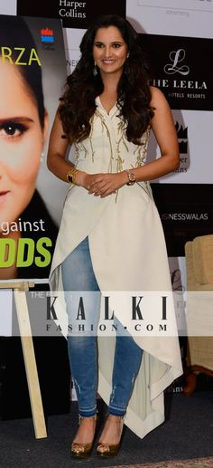 Sania Mirza: The immensely talented, Sania Mirza, was spotted dressed in a stylish white tail-cut  kurti at her book launch event