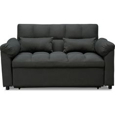 Mariel Media Sleeper   American Signature Furniture Small Couch, Sofas For Small Spaces, Media Room Seating, Living Room Seating, Game Room Furniture, Value City Furniture, Full Size Sofa Bed, Black Couches, Sofa And Loveseat Set