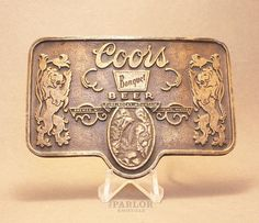 Vintage Coors Banquet Beer belt buckle available for purchase via paypal, $25 w/free shipping! Vintage Belt Buckles, Banquet, Patches, Beer, Pure Products, Free Shipping, Personalized Items, Instagram Posts, Root Beer