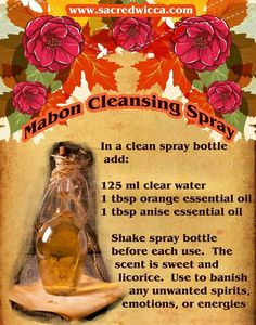 Mabon cleansing spray