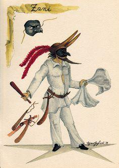 Zani: nella Commedia dell'Arte assume questo nome il personaggio del servo, furbo e imbroglione o sciocco e pasticcione.