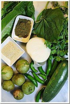 Mole verde Yucatan style , sub vegan for meat