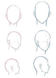 Body Drawing Tutorial, Manga Drawing Tutorials, Art Tutorials, Drawing Reference Poses, Drawing Tips, Hair Reference, Drawing Heads, Drawing Faces, Drawing Expressions