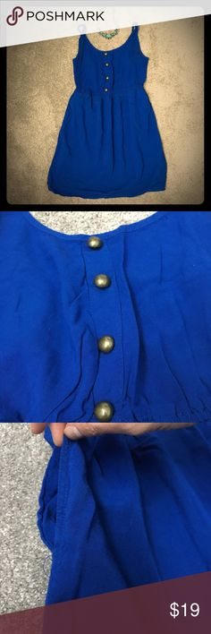 One Clothing Royal Blue Dress w/ Pockets - Size S One Clothing Royal Blue Dress w/ Pockets - Size S. Love the Pockets on this dress. It was so convenient to head to the beach and just throw my keys and chap-stick in my pocket. Necklace and be purchased separately or brought together as a bundle. one clothing Dresses Mini