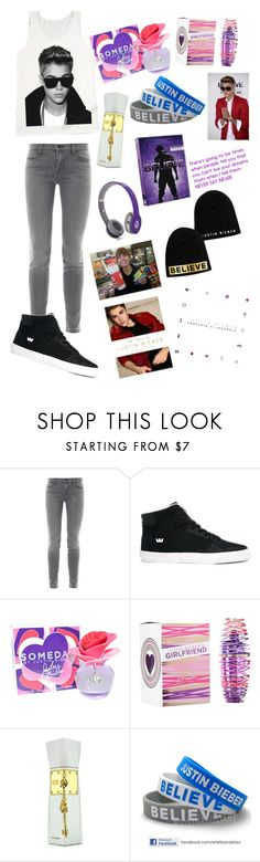 """""""#13 Justin Bieber"""" by xjet1998x ❤ liked on Polyvore featuring moda, J Brand, Supra, Justin Bieber y Beats by Dr. Dre"""