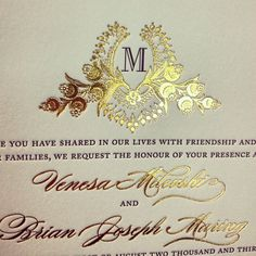 Gold foil is perfect for those classic affairs, or if you just want to add a little shine to your invitation set