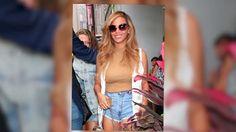 Beyoncé se viste con shorts sexys en Nueva York