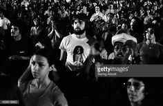 The audience at 'Sly and the Family Stone' performing at the Schaefer Music Festival on August 1 1973 in New York City