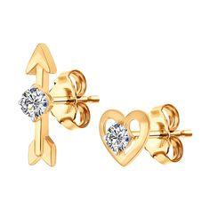 ed2942cf4b4f Rose gold heart earrings. Oro PlataJoyas De ...