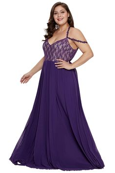 55bfedf49 Plus Size Floral Lace Cut Out Backless Maxi Evening Dress Purple #Ad Plus  Size Dresses