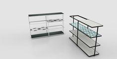 O CÉU - LAYER - Shelves with modular tile boards.