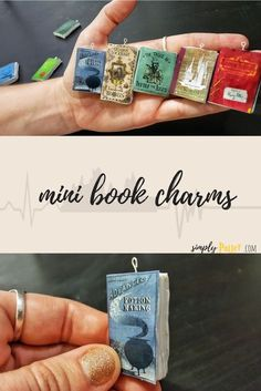 Create your own Harry Potter mini books with this easy craft tutorial! Follow the link for the full video tutorial to make your own book charms or ornaments