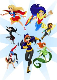 Wonder Woman, Batgirl, Supergirl, Harley Quinn and more will soon be available as a new line of action figures and comics targeted at girls. Batgirl, Supergirl Superman, Dc Super Heros Girl, Super Girls, Marvel Dc, Harley Quinn, Dc Comics, Winx Club, Girl Superhero Party