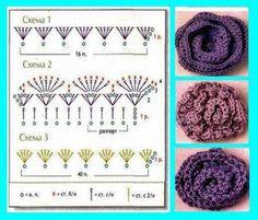 Crochet Roses - Chart...                                                                                                                                                                                 Mais