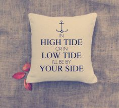 This says it all explaining my best friend anchor tattoo!  Anchor Pillow - Custom Pillows - Nautical throw pillow - Cottage deco - Home decor.