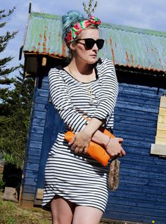 Streifenkleid, Figurbetont, Cult Gaia Turband, Iceland Fashion, Like A Riot, Fashion Blog, turquoise hair, türkise haare, festival fashion, Summer Outfit, Summer Style, Summer Look, Blogger Style, striped dress