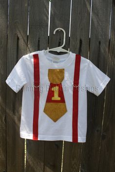 Winnie the Pooh First Birthday Tie Onesie or T-shirt with Suspenders