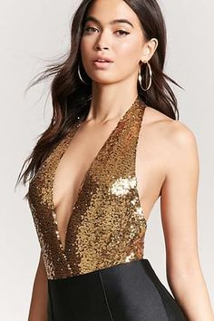 dcfb62e4d97 Plunging Sequin Bodysuit Sequin Bodysuit