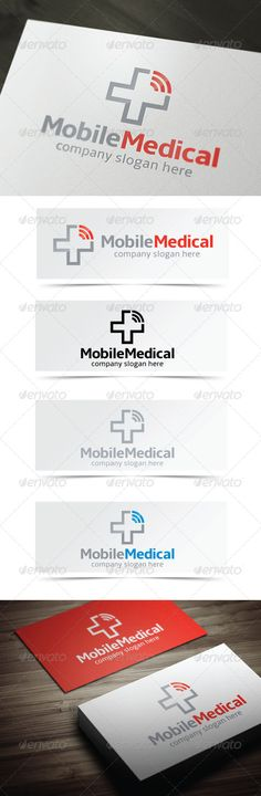 Mobile Medical - Logo Design Template Vector #logotype Download it here: http://graphicriver.net/item/mobile-medical/4385408?s_rank=797?ref=nexion