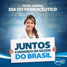 Parabéns a todos os farmacêuticos do Brasil, que juntos com a EMS, cuidam da saúde de milhões de brasileiros.