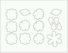 {every}nothing wonderful: Tutorial: Felt Flowers and Bows pattern included Faux Flowers, Diy Flowers, Fabric Flowers, Paper Flowers, Felt Flower Template, Felt Templates, Bow Template, Felt Patterns, Flower Patterns