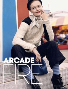arcade fire: anastasia milli and nana strand by scott trindle for teen vogue august 2013 | visual optimism
