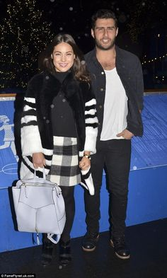 Made In Chelsea's Louise Thompson and Alik Alfus put on a united front during ice-skating date after cheating rumours
