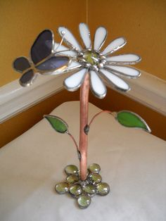 Stained Glass Daisy 3D
