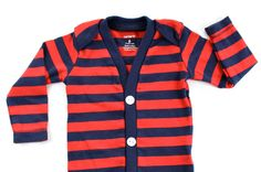 Baby Cardigan - Red Preppy Baby Boy Cardi - Perfect for a Fall or Winter Baby Shower Gift