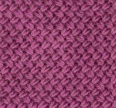 Braided stitch: explanation in French Crochet Wool, Tunisian Crochet, Crochet Granny, Knitting Stiches, Loom Knitting, Crochet Stitches, Stitch Patterns, Knitting Patterns, Crochet Patterns