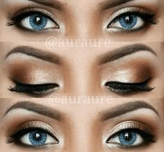 Copper blues  Bold Eyeshadow Looks To Inspire Your Inner Makeup Artist • Page 4 of 10 • BoredBug