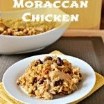 Slow Cooker Moroccan Chicken. Has beans, lentils, and brown rice. Would be fun to try.