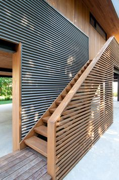 House Cladding, Timber Cladding, Architecture Images, Architecture Details, Landscape Architecture Model, Casas Containers, Architectural Design House Plans, Stairways, Exterior Design