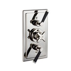 MB 8736   Mackintosh Black concealed dual control thermostatic valve by Lefroy Brooks