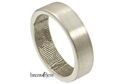 http://rubies.work/0421-sapphire-ring/ Sterling silver fingerprint ring (customized with an actual fingerprint) Brent & Jess