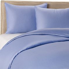 Periwinkle sheets and bedspread, similar to one I own