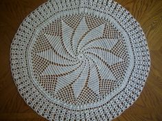 Crocheted Doily / Round Tablecloth by designsbydkd on Etsy