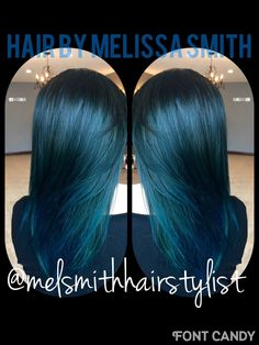 Blue Black hair / Joico Intensity / Fashion haircolor / Pensacola colorist / @melsmithhairstylist