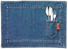 reaproveitamento de jeans - jogo americano